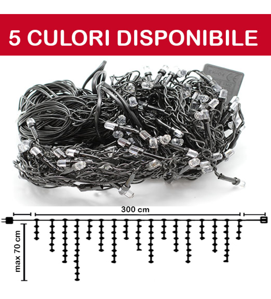 PERDEA TURTURI DE LUMINI 96LED, 3M X MAX 0.7M, DEC96L3MFN